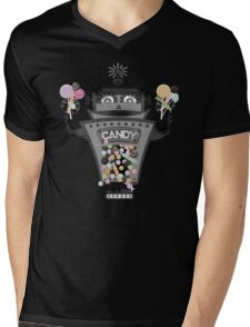 Retro robot colorful candy machine Mens V-Neck T-Shirt