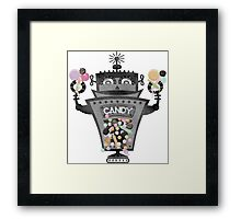 Retro robot colorful candy machine Framed Print