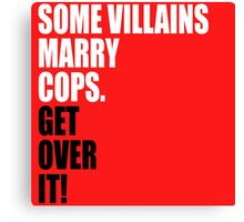 VILLAINS AND COPS Canvas Print