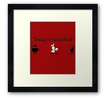 Today's Schedule Framed Print