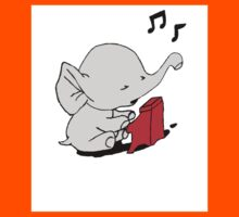 Baby Elephant Playing A Piano Kids Clothes