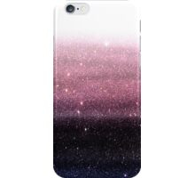 Wine Purple and Navy Blue Faux Glitter Gradient iPhone Case/Skin