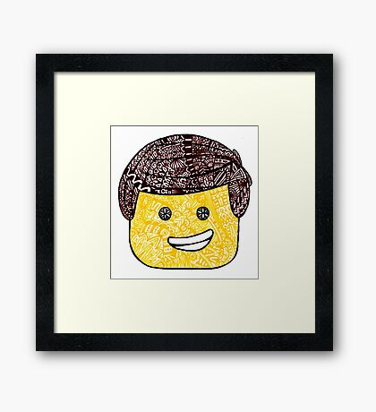 The Lego Movie Zentanlge Emmet Framed Print
