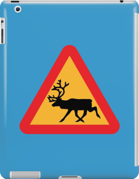Caution Reindeer Sign by tinybiscuits
