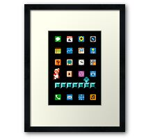 Super Mario iPhone Screen Framed Print