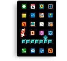 Super Mario iPhone Screen Canvas Print