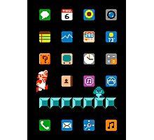 Super Mario iPhone Screen Photographic Print