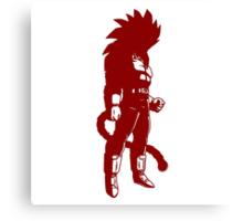 Monkey warrior (red) Canvas Print