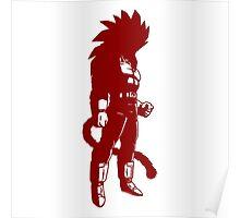 Monkey warrior (red) Poster