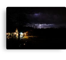 A Stormy April Nite at Rock Hollow Canvas Print