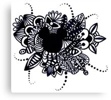Zentangle Disney Mickey Mouse Canvas Print