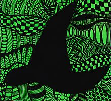 Elphaba Hat Wicked Zentangle by JustineFisher
