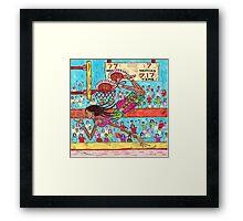 Flying Feet Jam Framed Print