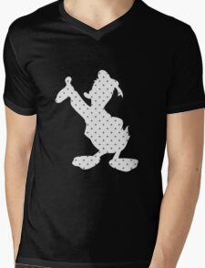 Donald Duck silhouette pattern Mens V-Neck T-Shirt