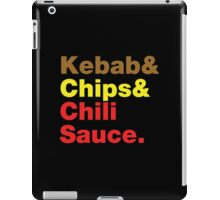 Kebab & Chips & Chili Sauce. iPad Case/Skin