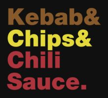 Kebab & Chips & Chili Sauce. by tinybiscuits