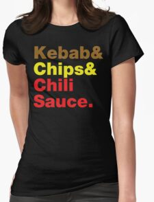 Kebab & Chips & Chili Sauce. T-Shirt