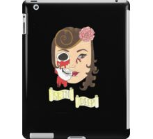 Beauty is Only Skin Deep (Black) iPad Case/Skin