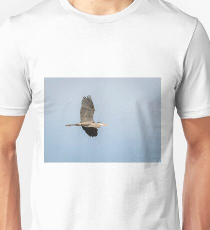 Great Blue Heron In Flight 2015-1 Unisex T-Shirt