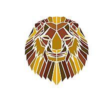 Geometric Lion Photographic Print