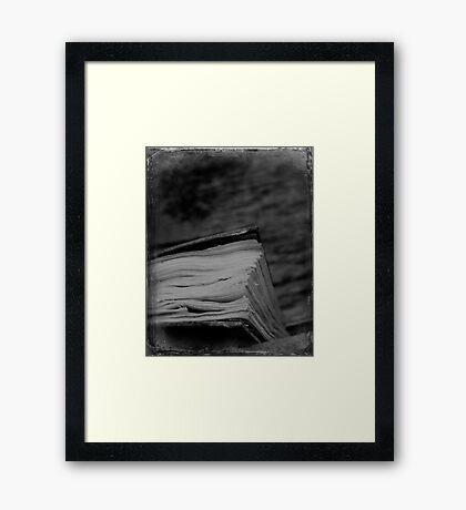 Book Framed Print