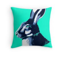 Hare Blues Throw Pillow