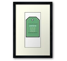 Care Instructions Framed Print