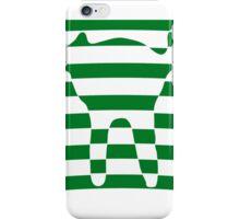 Green striped cat 3 iPhone Case/Skin