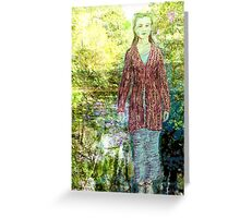 Green Lady Greeting Card