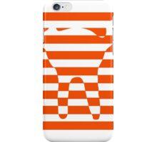 Orange striped cat iPhone Case/Skin