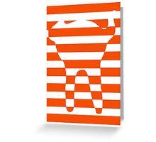 Orange striped cat Greeting Card