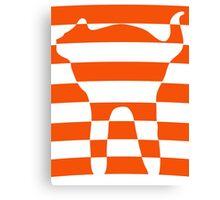 Orange striped cat 2 Canvas Print