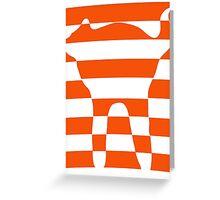 Orange striped cat 2 Greeting Card