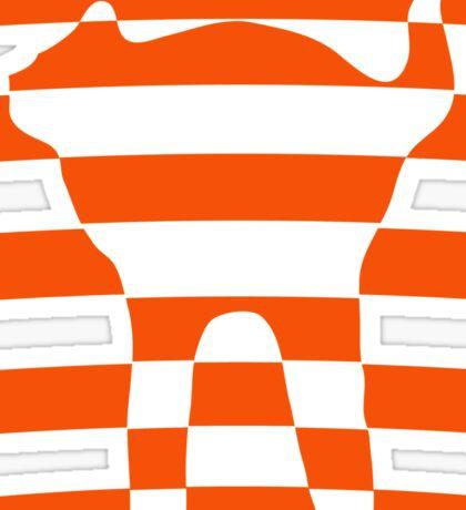Orange striped cat 2 Sticker