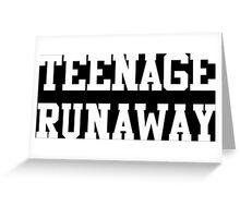Teenage Runway Greeting Card