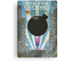 Bomberman Art Deco Style Canvas Print