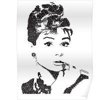 Audrey Hepburn Typography Poster