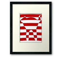 red striped cat 2 Framed Print