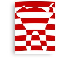 red striped cat 2 Canvas Print