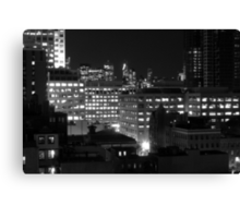 A view of new york city from exchange place, Jersey City Canvas Print