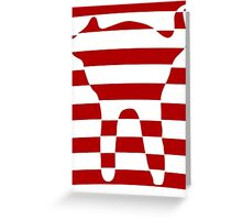 red striped cat 3 Greeting Card
