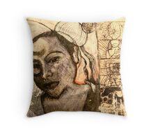 Sketchy  Throw Pillow
