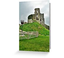 Corfe Castle, Dorset, UK Greeting Card