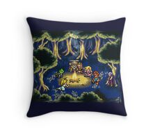 Chrono Trigger Camping Scene Throw Pillow