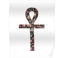 Ankh Floral Poster