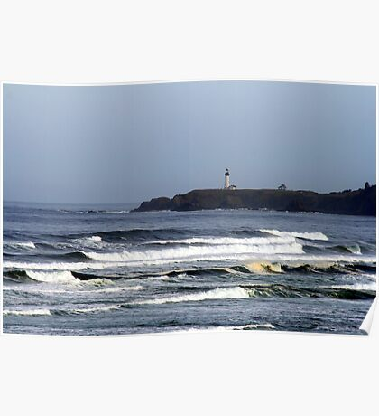 Oceanview of Yaquina Head Lighthouse Poster