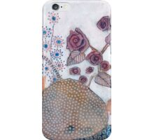 Poppies and roses iPhone Case/Skin