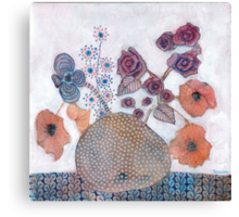 Poppies and roses Canvas Print