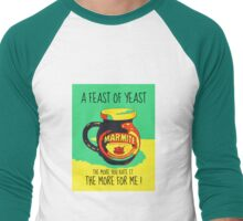 A FEAST OF YEAST Men's Baseball ¾ T-Shirt
