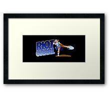 Riot grrrl Framed Print